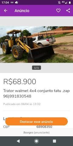 Trator walmet 4x4 motor MWM 6.CIL