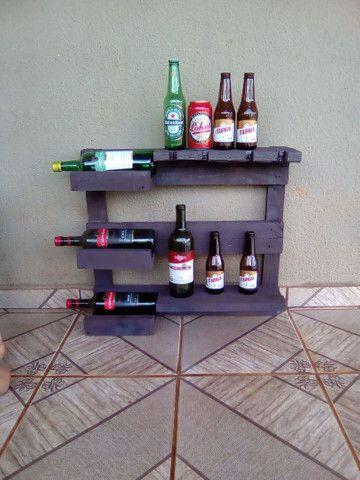 Porta bebidas rústico de parede 40 reais por unidade