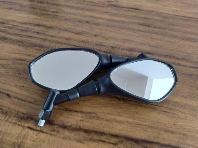 Retrovisor F800 com rosca Honda, giro 360 e lentes convexas, original Gvs - Foto 2