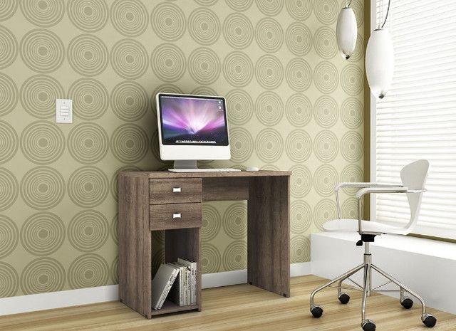 Mesa escrivaninha 2 gavetas - Foto 3