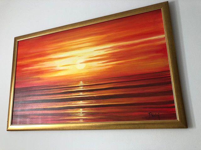 Quadro grande por do sol - Foto 4