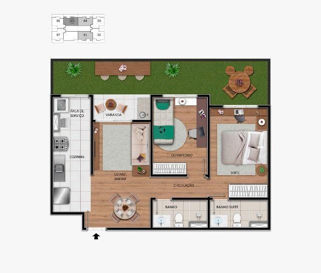 Lindo Apartamento no centro de Hortolândia, entrada em até 60 meses.  - Foto 6