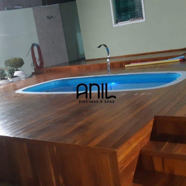 JA - Piscina Anil - piscina nova de fibra - 4 x 2 x 1m - Foto 4