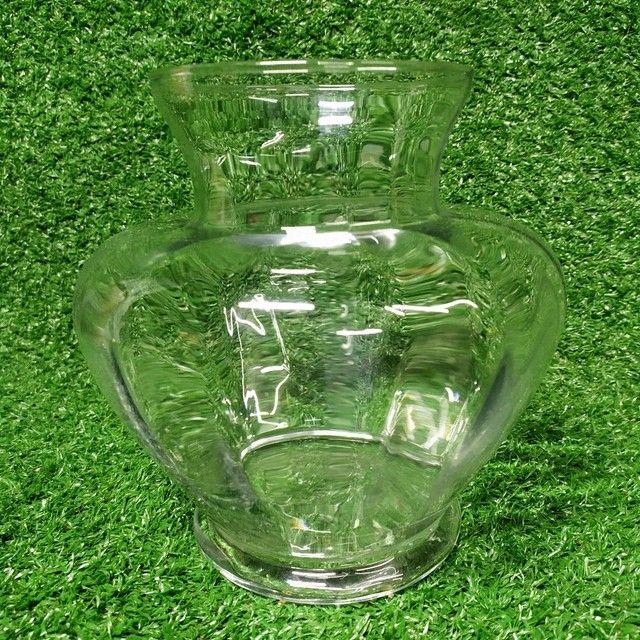 Antigo vaso de vidro Decoração