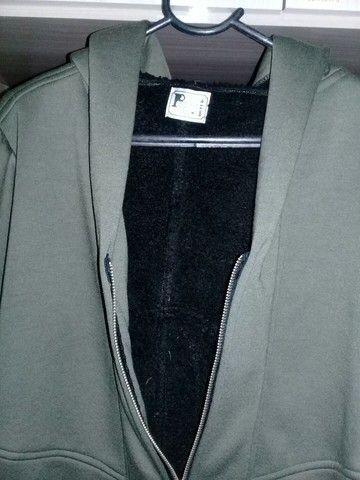 casaco de moletom c/capuz e pelego - Foto 2