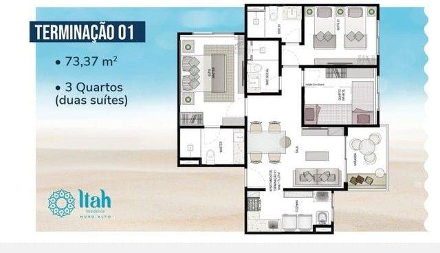 Apartamento térreo com 3 dormitórios, 2 vagas,2 suítes à venda, 73m² por R$ 1000.000 - Pra - Foto 14