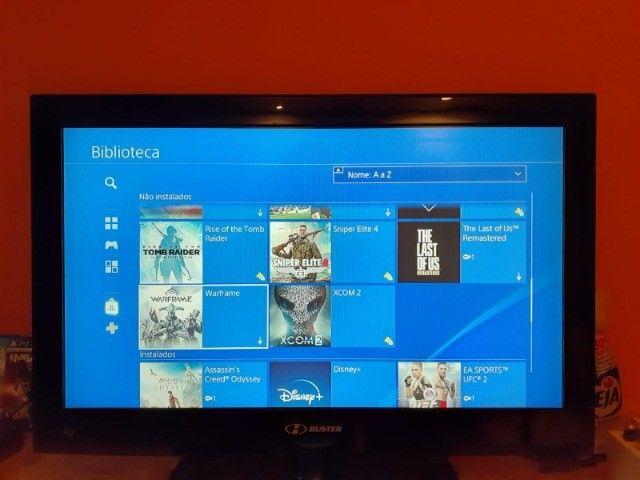 Playstation 4 Slim 1tb com 40 jogos. - Foto 6