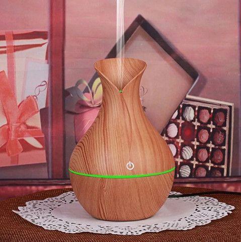 Umidificador Ultrassônico Usb Tipo Madeira Difusor De Aroma - Foto 5
