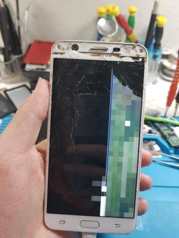 Tela vidro display trincado celulares notebooks