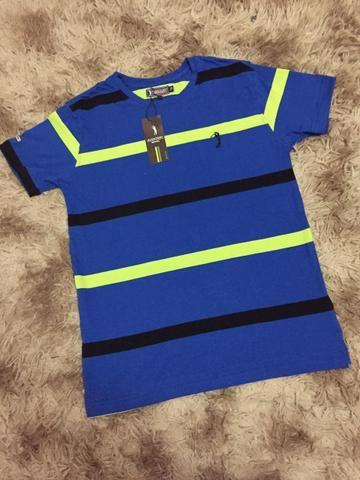 Camisetas Listradas Algodão Report com Elastano - Foto 2