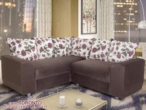 Sofá de Canto Toronto Tecido Suede (Em Até 10 X S/ Juros ) - Foto 2