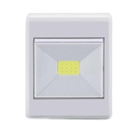 Kit 4 Luminarias LED Botão A Pilha 3W Branca - Elgin - Foto 5