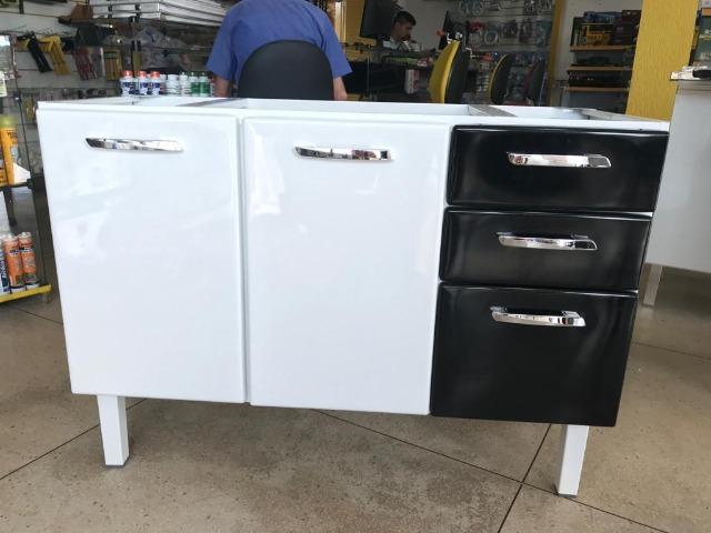 Gabinete HB 1,20 Para Pia de Cozinha Totalmente Organizada e Moderna
