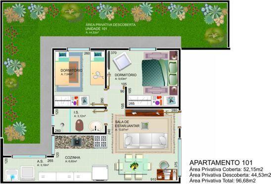 Apartamento à venda com 2 dormitórios em Jardim palmital, Colombo cod:AP217 - Foto 2