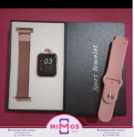 Relógio SmartWatch P70 2 Pulseiras