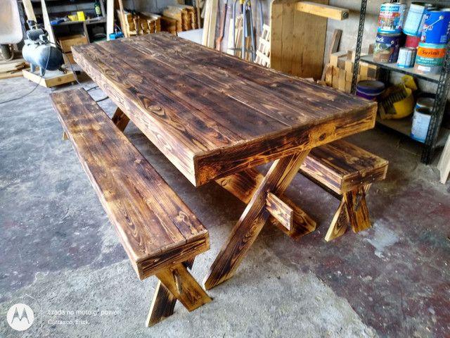 Mesa de jantar rústica Pallet
