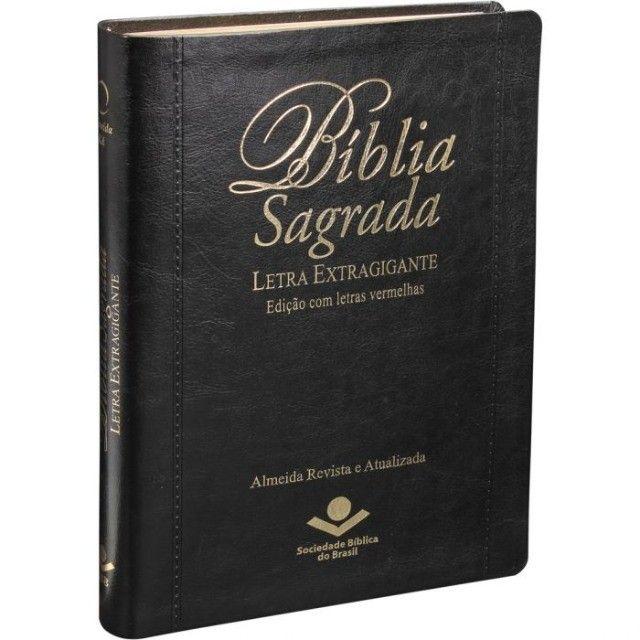 Bíblia de Púlpito Edição de Luxo com letras extragigantes e vermelhas  - Foto 6