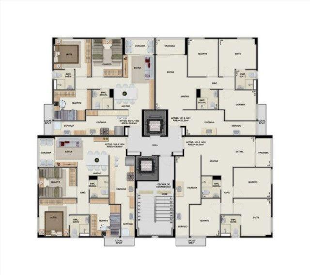 VM-Melhor 3 quartos no Barro - José Rufino - Edf. Alameda Park - Foto 7