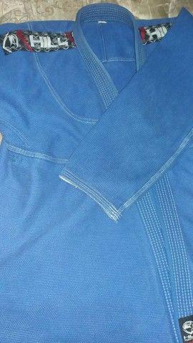 Kimono jiu-jitsu azul (tamanho A4) original HILL - Foto 2