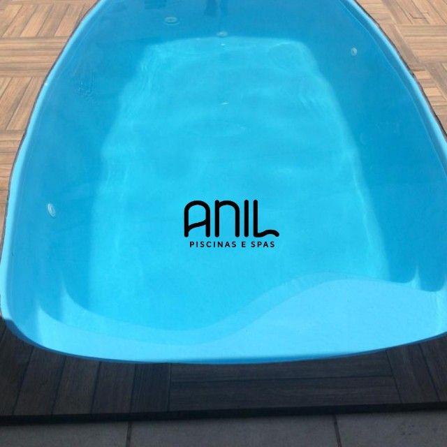 JA - Piscina Anil - piscina nova de fibra - 4 x 2 x 1m - Foto 3
