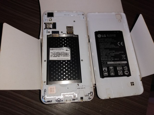 Celular LG k220 com caixa. Ac prop. - Foto 5