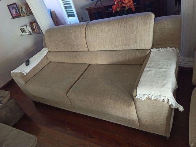 Conjunto de sofá 2 e 3 lugares retrátil - Foto 2