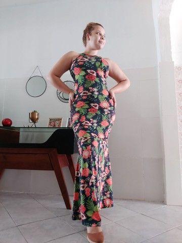 Vestido longo estilo sereia - Foto 4