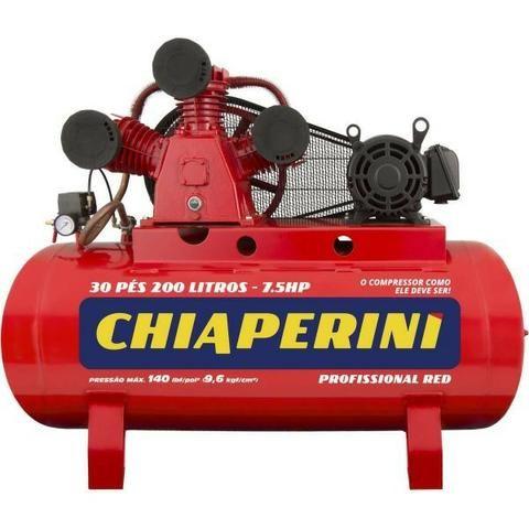 Compressor De Ar Média Pressão 30 Pcm 200 Litros Chiaperini 30/200 RED