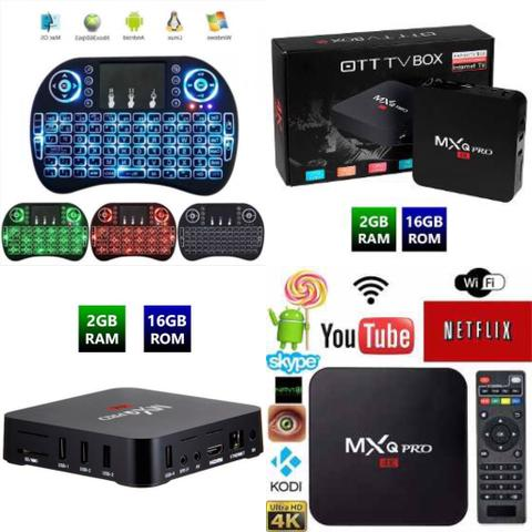 Tv Box Mxq Pro 4k 2gram 16g Rom Android 71atacado E Varejo