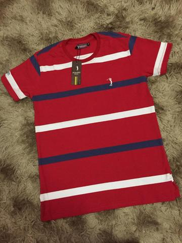 Camisetas Listradas Algodão Report com Elastano - Foto 5
