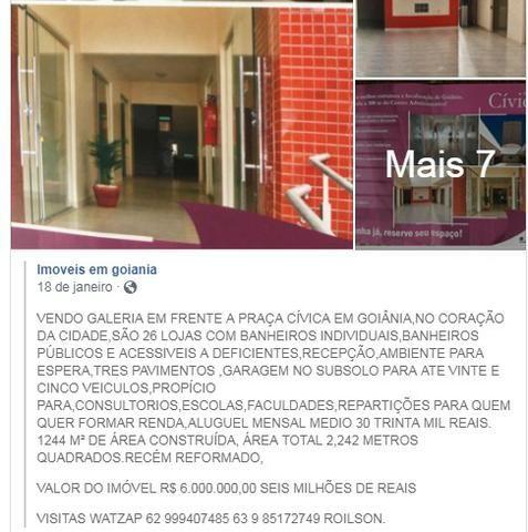 f52596059 Galeria com 26 lojas na praça civica em Goiania estacionamento para 30  veiculos com manobr