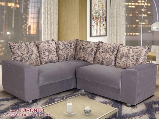 Sofá de Canto Toronto Tecido Suede (Em Até 10 X S/ Juros ) - Foto 3