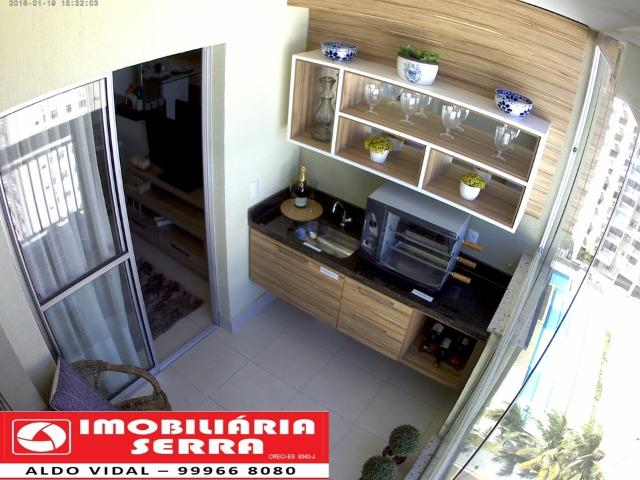 ARV132- Apto com Varanda gourmet, Home Office, 1 ou 2 vagas de garagem, em Colinas. - Foto 16