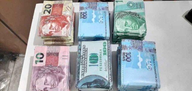 Carteira Masculina Estampa Dinheiro - Foto 4