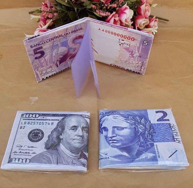 Carteira Masculina Estampa Dinheiro - Foto 5