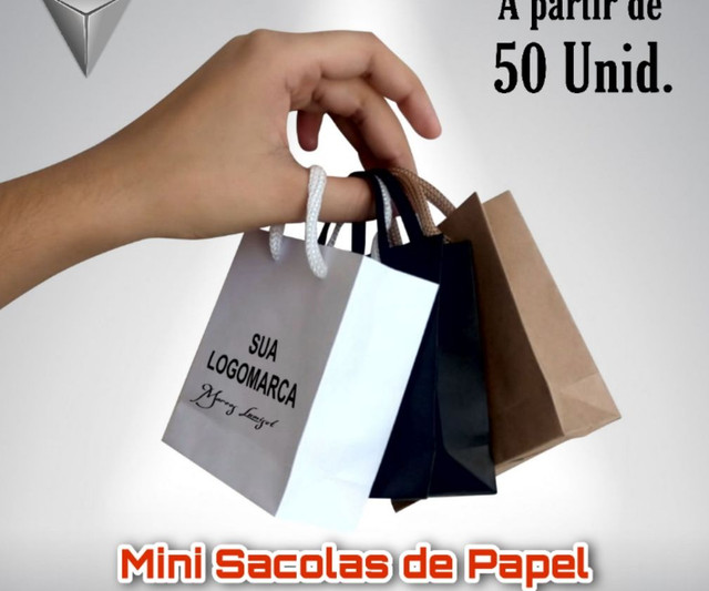 Mine sacolas de papel