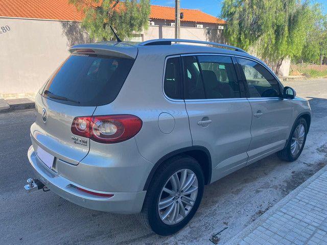 VW Tiguan 2.0 TSI 2011 top de linha com rodas 18, teto solar e interior caramelo - Foto 4