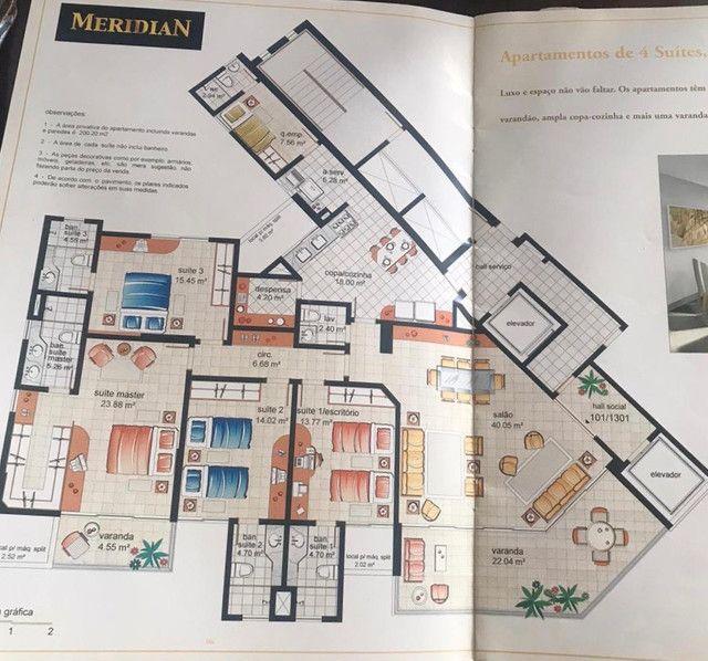 vendo ou alugo apartamento de alto padrão,200 m2 - Foto 3