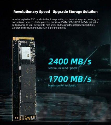 SSD M2 128gb, 256gb, 512gb e 1TB KingSpec NVMe PCIe - Entrego e Aceito Cartões - Foto 3