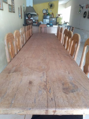 Mesa de 4x1m com 15 cadeiras  - Foto 2