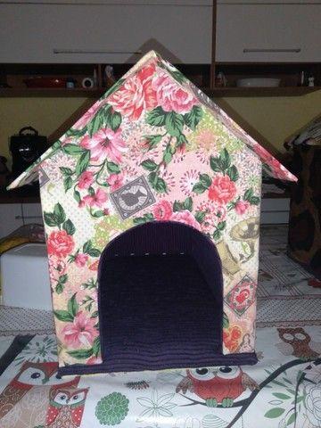 Casinhas pet pelúcia/tecido gato/cachorro - Foto 2