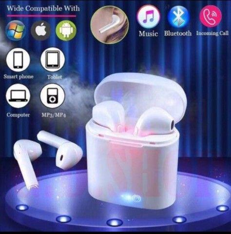 Fone De Ouvido Sem Fio Bluetooth I7 Tws (Android e IOS)