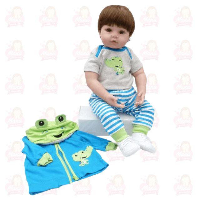 Bebê Reborn menino menininho pronta entrega super fofo - Foto 3