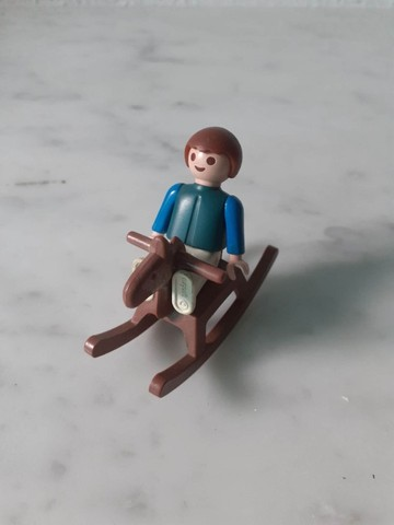 Cavalinho de brinquedo - Playmobil Trol anos 80 -