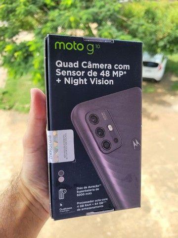 Smartphone Motorola Moto G10 64GB, 4GB Ram, Tela 6,5, Lacrado, Garantia e Nota Fiscal - Foto 3