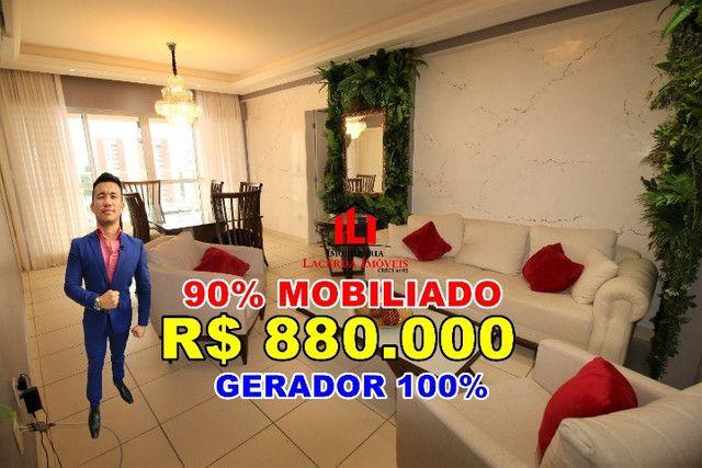 Reserva das Águas, 132m², 4 Quartos/suítes, Mobiliado 90%, 12º Andar
