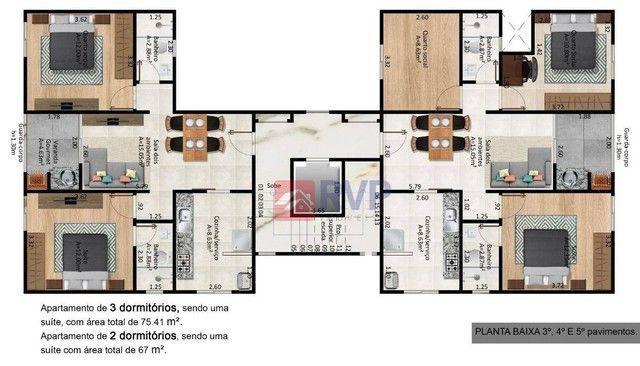 Apartamento com 3 dormitórios à venda por R$ 269.000,00 - Recanto da Mata - Juiz de Fora/M - Foto 10