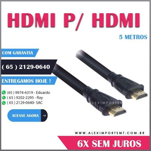 Cabo Hdmi Macho X Macho 2.0 19 Pinos 5M X 5M Bom