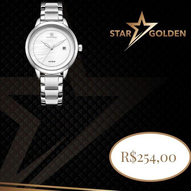 relógio de pulso de marca de luxo à prova d'água de quartzo para senhora com garantia
