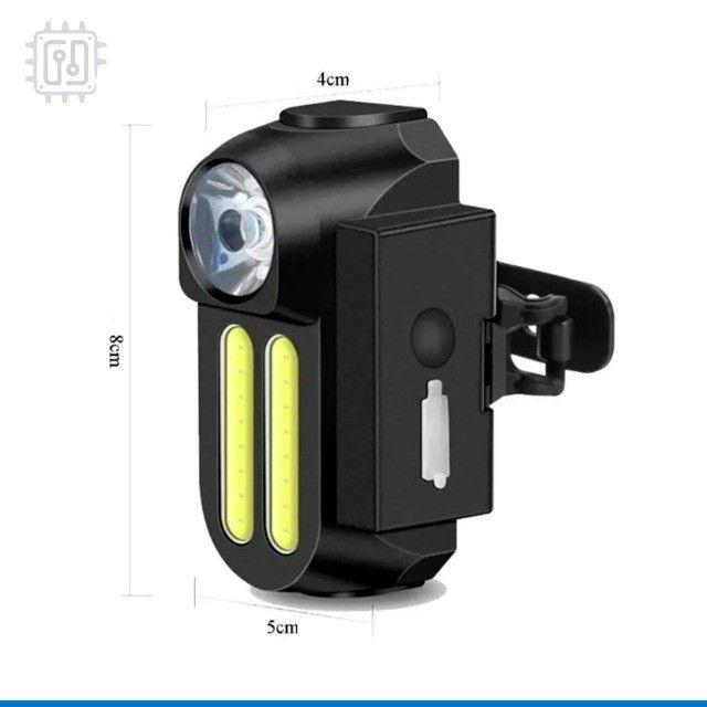 Lanterna Farol para Bicicleta Dianteira Led Bike Lamp Recarregável por USB - 4 Modos - Foto 5
